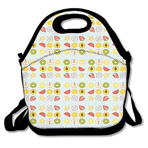 Free Vector Obsthälften Icon Set Lunchbag Handtasche Lunchbox Lebensmittelbehälter Tragetasche Kühltasche Warm Tasche für Schule Arbeit Büro -