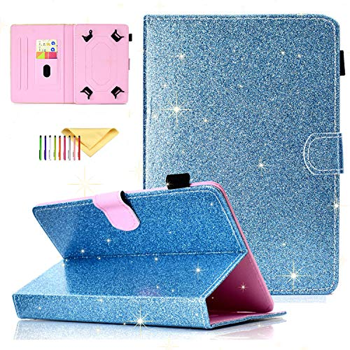Uliking Universal Bling Glitzer Hülle für Samsung Galaxy Tablet, Apple iPad, Amazon Kindle, Google Nexus und weitere 16,5-10,5 Zoll Tablet - 8 Tablet Zoll-rca Case