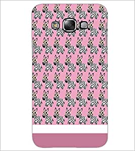 PrintDhaba Zebra Pattern D-1310 Back Case Cover for SAMSUNG GALAXY E7 (Multi-Coloured)