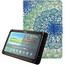 "[Universal Funda 10 pulgadas] Funda Flip Case Cover para Yuntab K107 10.1""/ Artizlee ATL-21 Plus 10.1 pulgadas/ Alldaymall Tablet 10.1""/Chuwi HiBook Pro 10,1 pulgadas/Teclast X10 Plus 10,1/Woxter SX 220 10.1""/Excelvan K107 10""/iRULU eXpro X1s 10.1""/ Dragon Touch X10 10.1""/ Simbans Presto Tablet 10.1"" Carcasa Protector Fundas para Tablet Samsung Tab A6 10.1/Asus/Acer/Lenovo 10""-Flor"