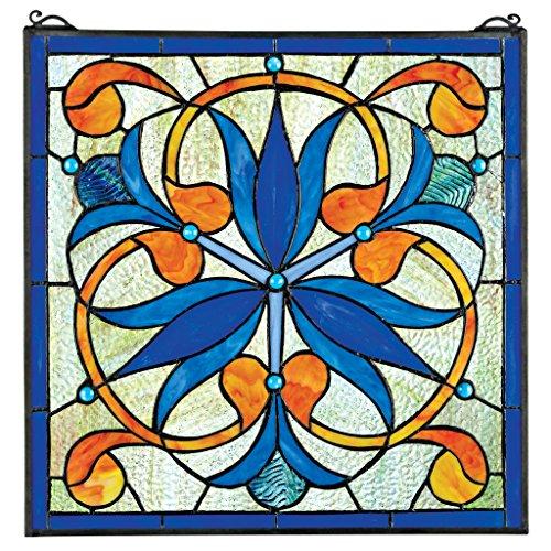 Buntglas-Panel - Mokara Orchideen-Klee-Blumenbuntglas-Fenster Behang - Fensterbehandlungen