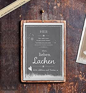 personalisiertes poster mit euren namen f r hochzeit und familien k che haushalt. Black Bedroom Furniture Sets. Home Design Ideas