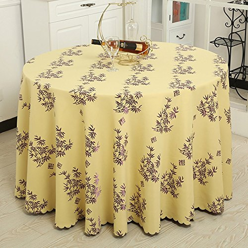 Imperméable nappe Nappe de l'hôtel Toile de table en tissu Manteau de salon Tissu rond de table ronde (5 couleurs en option) (taille facultative) pour dîner ( Couleur : A , taille : 280CM )