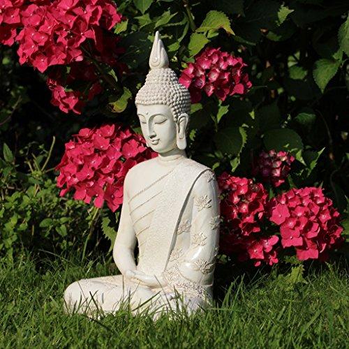 Thai Buddha Weiß Statue groß 40 cm - 6