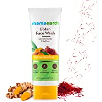 Mamaearth Ubtan Natural Face Wash for All Skin Type with Turmeric & Saffron for Tan removal and Skin brightning 100 ml…