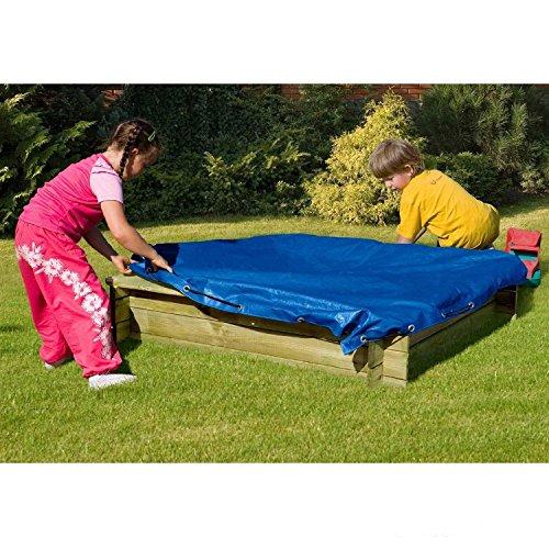 Preisvergleich Produktbild Sandkastenabdeckung Plane für Sandkasten 120x120 von Gartenpirat®