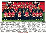 Manchester United 2014/15 Squad Autographed Signed A4 21cm x 29.7cm Poster Photo