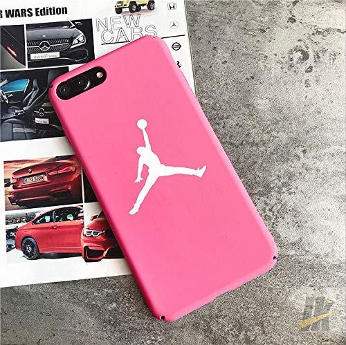 Air Jordan Kompatibel mit iPhone 7 Handy Cover Schutzhülle Handyhülle Jordan Michael Jordan Chicago Bulls (rosa) -
