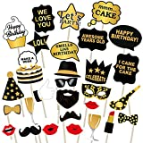 #2: Party PropzTM Birthday Photo Booth Props 29 Pcs/ birthday party props for kids / Happy Birthday Party Supplies / birthday decoration / birthday Photo Booth