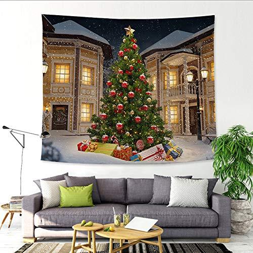 Weihnachten DekoTapisserie, Riou Xmas Weihnachtsbaum Pfirsich Stoff Gobelin -