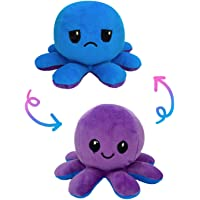 Myric Reversible Cute and 10 inches Octopus, Mood Changing. Pack of 1 pcs. (Purple Blue)