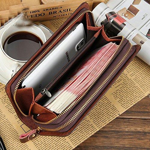 Herren Geldboerse Große Kapazität IHRKleid® Für eine größere Ansicht klicken Sie auf das Bild Herren Portemonnaie Geldbörse lange Portemonnaie Leder Börse Brieftasche für Männer (Schwarz) Schwarz