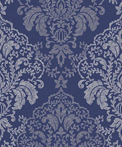 glitzer-damast-creme-qualitat-tapete-vinyl-blau