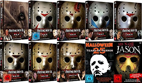 FREITAG DER 13. - Mediabook Collection Teil 2 3 4 5 6 7 8 + Remake KILLER CUT + Bonus 26 Disc BLU-RAY + DVD Limited - 13 Freitag Halloween Der