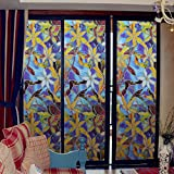 Inovey Statische Fensterfolien 3 Meter Orchid PVC Filme Fensteraufkleber Nicht kleben Gabel Kunst Glas Bad
