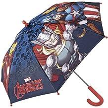 Paraguas Niño Marvel Los Vengadores - Paraguas Largo Avengers con Capitán América Iron Man y Thor
