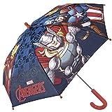 Perletti Regenschirm Marvel Avengers - Kinderschirm, robust, windfest - Sicher Kinderregenschirm mit abgerundeten, blockierten Spitzen - manuelle Sicherheitsöffnung - 3 bis 6 Jahre