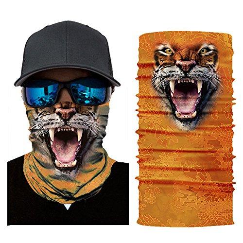 Kostüm Gruselig Karneval - JSxhisxnuid, 3D Sport Maske Winddicht Fahrrad Maske nahtlos Motorrad Face Maske Outdoor Maske Sport mit Kopfbedeckungen, Halloween Karneval Kostüm (A)