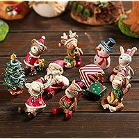 Juego de 8 figurines con motivos navideños, de resina, de Treasure-House