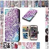 KM-Panda Housse Coque Apple iPhone 6S Plus 6 Plus Fleur de Dentelle Cuir PU Wallet...