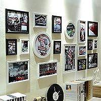 Europeo madera portaretrato Marco de combinación creativa Foto montado en la pared la caja C A