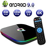 Android TV Box 9.0, 2019 Nieuwste Android Box 4GB RAM 32GB ROM H6 Quad Core Cortex-A53 Smart TV Box, ondersteuning 6K 3D Reso