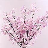 Fleurs de cerisier, fleur en soie, fleurs artificielles, artificielle Sakura, mariage, Home Office Party Hôtel Restaurant terrasse ou jardin Décoration (10pcs) violet