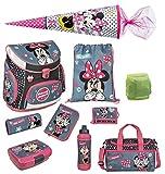 Minnie Mouse Schulranzen Set 10tlg. Schultüte, Sporttasche, Regen-/Sicherheitshülle Federmappe Scooli MIDS8252