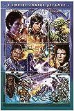 Star Wars stamps - di Star Wars L'Impero colpisce ancora - 9 francobolli. Menta e timbro minifoglio smontato - Stampbank - amazon.it