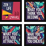 #10: Paintings for Home|Motivational Posters with Frames for Office and Study Room Inspiration -Set of 4