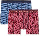 Scotch & Soda Classic Boxer Short with Colourful All-Over Print, Homme, Lot de 2 Multicolore (Combo A 0217), Medium