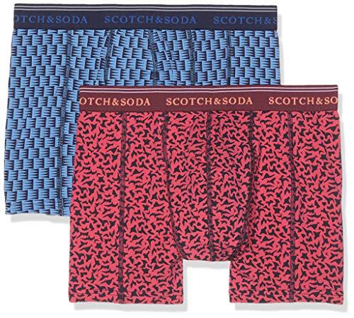 Scotch & Soda Herren Boxershorts Klassische Boxershorts mit farbigem All-Over-Print 2er pack, Mehrfarbig (Combo A 0217), XX-Large (Herstellergröße: XXL) (Soda-boxer)