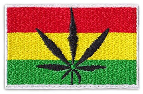 Jamaica-Hojas cannabis parche planchar Patch Reggae