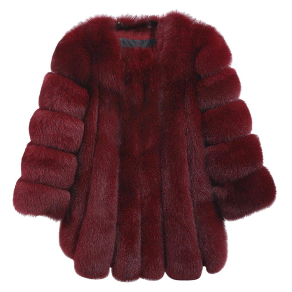 Riiya Felpa di lusso di pelliccia del Parka del cappotto del cappotto del cappotto invernale allunga