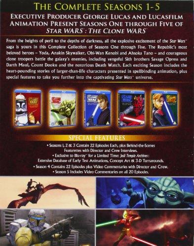 Image of Star Wars Clone Wars - Season 1-5 [Blu-ray] [Region Free]