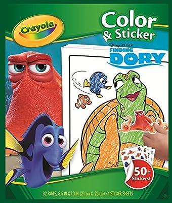 Buscando a Dory - Libro para colorear con pegatinas (Crayola 04-2007)