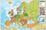 Grupo Erik GPE4912 Poster Mappa Europa Pt Fisico Politico, carta, Multicolore,  91 x 61,5 x 0,1 cm