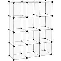 SONGMICS Meuble de Rangement, Bibliothèque, Unité de Stockage, Cubes en Plastique à Emboîtement, Facile à Assembler…