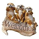 Design Toscano le suricate Ménagerie Bienvenue Sculpture Ménagerie de surikates