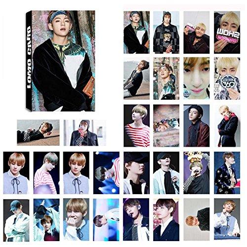 Yeleo Trosetry BTS Poster, BTS Postcard BTS KPOP Rap Monster, Jung Kook  Jimin, V, Suga Jin J Hope Poster Mini Photo Card Set Regalo per Army(8 8 *
