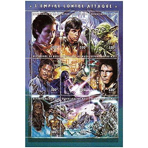 Star Wars sellos - Star Wars El Imperio Contraataca - 9 sellos. Menta y sheetlet sello sin montar
