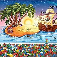 Barco pirata Fotomurales Isla del tesoro murales pared Dormitorio de los niños Decoración del hogar Disponible en 8 Tamaños Gigantesco Digital