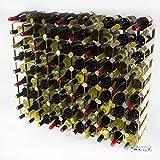 Madera de pino 90 botella clásico y metal autoensamblaje estante del vino galvanizado