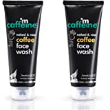 mCaffeine Naked & Raw Coffee Face Wash (Pack Of 2), 100 ml | White Water Lily | Deep Cleanser | Oily/Normal Skin | Paraben &