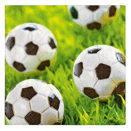 Servilleta de papel 20 uds 25x25 cm Diseño Balones de futbol