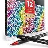 ARTEZA Pennarelli Acquerello Professionali Da Disegno Brush Pen, Set Da 12 Pennarelli Ad Acqua, Punta Flessibile Morbida A Pennello, Per Disegni e Pitture sia per Esperti che Principianti