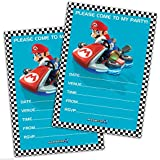 20 Party Invitations - MARIO KART Birthday Party by Nintendo