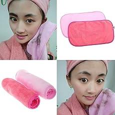 Asciugamano in tessuto rimovibile Asciugamano in tessuto riutilizzabile Rimuovete il trucco immediatamente con acqua pura (Rose Red) 1Pc