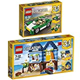 Lego Creator 3-in-1 2er Set 31056 31063 Grünes Cabrio + Strandurlaub