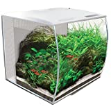 Fluval Flex Curved Glass LED Nano Aquarium Fish Tank 34L - White